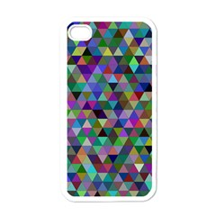 Triangle Tile Mosaic Pattern Apple Iphone 4 Case (white)