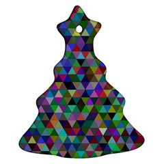 Triangle Tile Mosaic Pattern Ornament (christmas Tree)