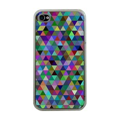 Triangle Tile Mosaic Pattern Apple Iphone 4 Case (clear)