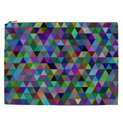 Triangle Tile Mosaic Pattern Cosmetic Bag (xxl)
