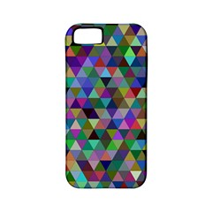 Triangle Tile Mosaic Pattern Apple Iphone 5 Classic Hardshell Case (pc+silicone)