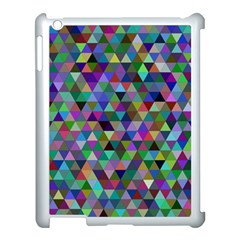 Triangle Tile Mosaic Pattern Apple Ipad 3/4 Case (white)