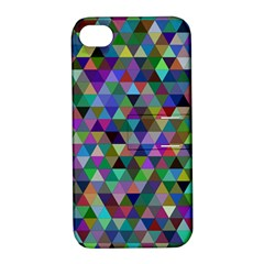 Triangle Tile Mosaic Pattern Apple Iphone 4/4s Hardshell Case With Stand