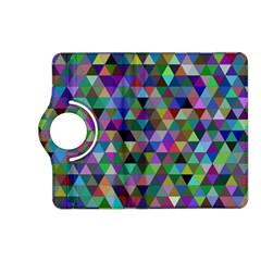 Triangle Tile Mosaic Pattern Kindle Fire Hd (2013) Flip 360 Case