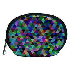 Triangle Tile Mosaic Pattern Accessory Pouches (medium)