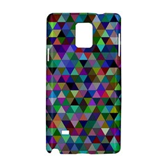 Triangle Tile Mosaic Pattern Samsung Galaxy Note 4 Hardshell Case