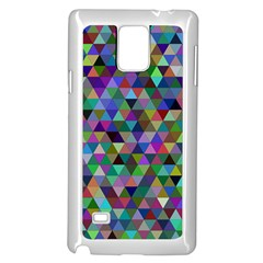Triangle Tile Mosaic Pattern Samsung Galaxy Note 4 Case (white)