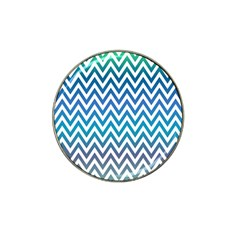 Blue Zig Zag Chevron Classic Pattern Hat Clip Ball Marker (10 Pack)