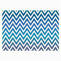 Blue Zig Zag Chevron Classic Pattern Large Glasses Cloth