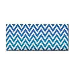 Blue Zig Zag Chevron Classic Pattern Cosmetic Storage Cases