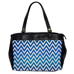 Blue Zig Zag Chevron Classic Pattern Office Handbags