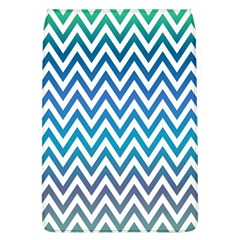 Blue Zig Zag Chevron Classic Pattern Flap Covers (l)