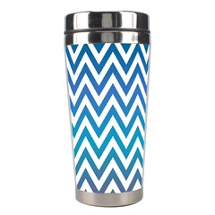 Blue Zig Zag Chevron Classic Pattern Stainless Steel Travel Tumblers