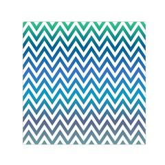 Blue Zig Zag Chevron Classic Pattern Small Satin Scarf (square)