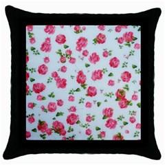 Lovely Roses  Throw Pillow Case (black)