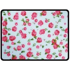 Lovely Roses  Fleece Blanket (large)