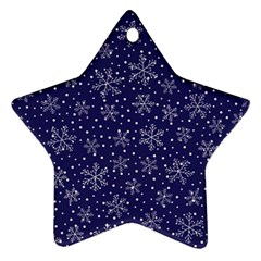Pattern Circle Multi Color Star Ornament (two Sides)