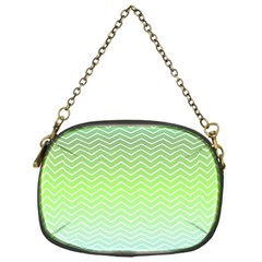 Green Line Zigzag Pattern Chevron Chain Purses (one Side)