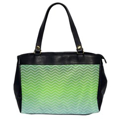 Green Line Zigzag Pattern Chevron Office Handbags