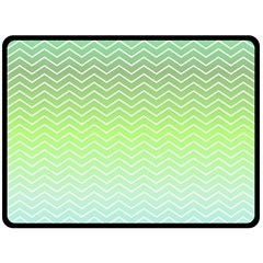 Green Line Zigzag Pattern Chevron Fleece Blanket (large)