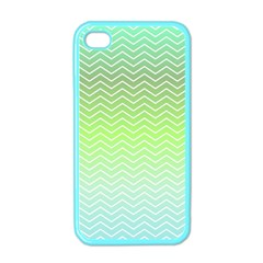 Green Line Zigzag Pattern Chevron Apple Iphone 4 Case (color)