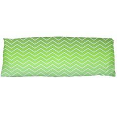 Green Line Zigzag Pattern Chevron Body Pillow Case Dakimakura (two Sides)