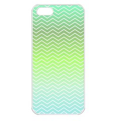 Green Line Zigzag Pattern Chevron Apple Iphone 5 Seamless Case (white)