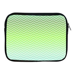 Green Line Zigzag Pattern Chevron Apple Ipad 2/3/4 Zipper Cases