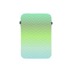 Green Line Zigzag Pattern Chevron Apple Ipad Mini Protective Soft Cases