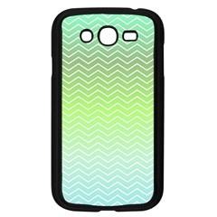 Green Line Zigzag Pattern Chevron Samsung Galaxy Grand Duos I9082 Case (black)