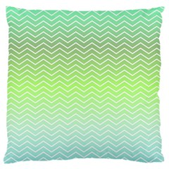 Green Line Zigzag Pattern Chevron Standard Flano Cushion Case (one Side)