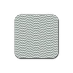 Vintage Pattern Chevron Rubber Coaster (square)