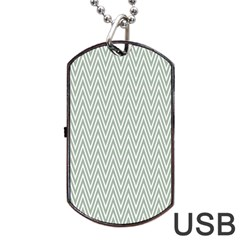 Vintage Pattern Chevron Dog Tag Usb Flash (two Sides)