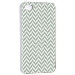 Vintage Pattern Chevron Apple Iphone 4/4s Seamless Case (white)