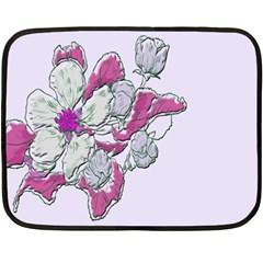 Bouquet Flowers Plant Purple Fleece Blanket (mini)