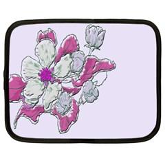 Bouquet Flowers Plant Purple Netbook Case (xxl)