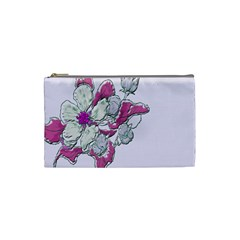 Bouquet Flowers Plant Purple Cosmetic Bag (small)