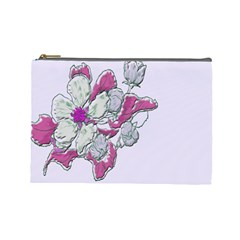 Bouquet Flowers Plant Purple Cosmetic Bag (large)