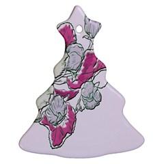 Bouquet Flowers Plant Purple Ornament (christmas Tree)