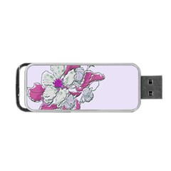 Bouquet Flowers Plant Purple Portable Usb Flash (one Side)