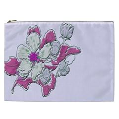 Bouquet Flowers Plant Purple Cosmetic Bag (xxl)