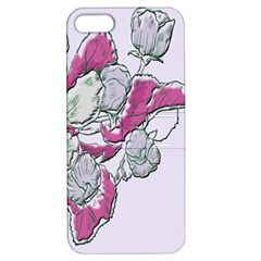 Bouquet Flowers Plant Purple Apple Iphone 5 Hardshell Case With Stand