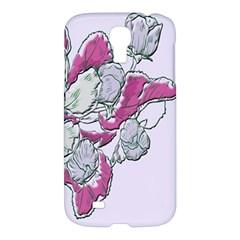 Bouquet Flowers Plant Purple Samsung Galaxy S4 I9500/i9505 Hardshell Case