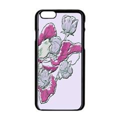 Bouquet Flowers Plant Purple Apple Iphone 6/6s Black Enamel Case