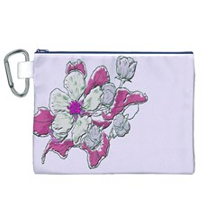 Bouquet Flowers Plant Purple Canvas Cosmetic Bag (xl)