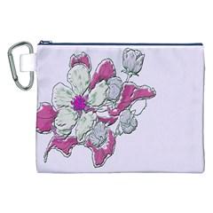 Bouquet Flowers Plant Purple Canvas Cosmetic Bag (xxl)