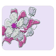 Bouquet Flowers Plant Purple Double Sided Flano Blanket (small)
