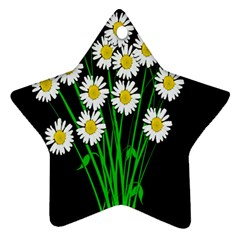 Bouquet Geese Flower Plant Blossom Ornament (star)