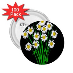 Bouquet Geese Flower Plant Blossom 2 25  Buttons (100 Pack)