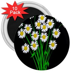 Bouquet Geese Flower Plant Blossom 3  Magnets (10 Pack)